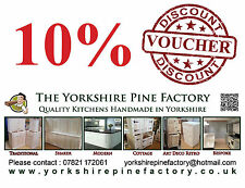 10% Discount voucher coupon full range of handmade solid pine L shape kitchens