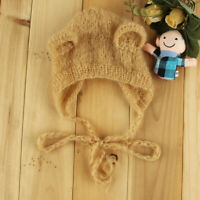 Newborn Baby Girl Boy Knit Crochet Bear Hat Cap Costume Photography Photo Props