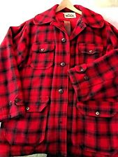 Woolrich Hunting Clothes, Red & Black Buffalo Plaid , Wool, Good Cond., ca 1980