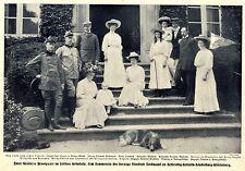 Zwei fürstliche Brautpaare im Schloss Grünholz Histor.Gruppenbild von 1908