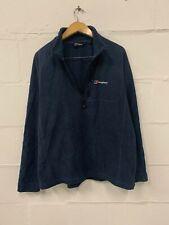 BERGHAUS Men's Fleece Jacket UK XXL 2XL Navy Polyester 1/4 Zip Neck Long Sleeve