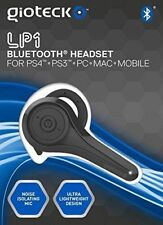 Gioteck Black LP-1 Bluetooth Chat Headset PS4 PS3 PC MAC Mobile Cell Phone NEW