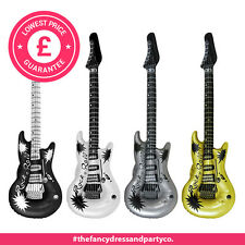 4x Inflatable Blow Up Guitar 106cm Rock N Roll Party Fancy Dress Birthday Disco