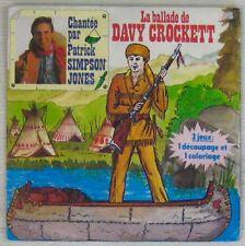 La ballade de David Crockett 45 tours Patrick Simpson Jones 1986