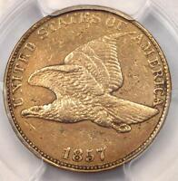 1857 Flying Eagle Cent 1C Coin - PCGS AU Details - Rare Early Certified Penny!