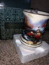 2004 Thomas Kinkade Evening at Swanbrooke Cottage New In Box ,Mug,Candle Holder