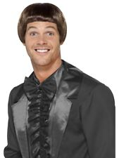 90s Brown Bowl Cut Wig Mens Fancy Dress Celebrity Fancy Dress