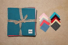 Felted Wool Bundle (Qty 20) 7 x 7 in Plaid & Solid Colors pkg #A24