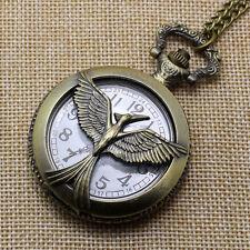 Retro Hollow Phoenix Quartz Pocket Watch Necklace Chain Pendant Women Men P229