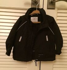 BRAND NEW Polarn O Pyret Baby Kids Boy Girl Black Soft Shell Jacket 9-12m