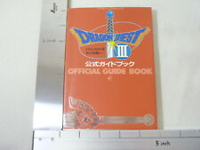 DRAGON QUEST III 3 Official Guide Book Famicom EX33*
