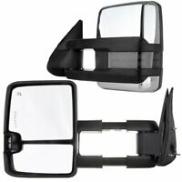 For 88-98 Chevy GMC C/K Towing Mirror Power Chrome Backup LED Signals Lamps Set