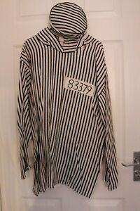 Ex Hire Halloween Mens Horror Convict XL Fancy Dress Costume