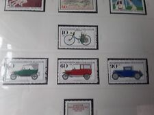 Berlin 1982   set of 4 motor cars unmounted mint stamps