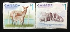 Canada #1688-1689a MNH, Wildlife - Deer and Atlantic Walrus Pair of Stamps 2005