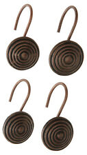 Hanover Decorative Shower Curtain Hooks - Set of 12 - Oil Rubbed Bronze