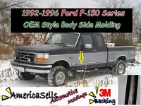1992-1996 FORD F SERIES F150 F250 F350 BRONCO FACTORY BODY SIDE MOLDING