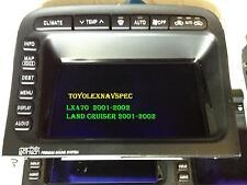 LEXUS LX470 TOYOTA LAND CRUISE GPS NAVIGATION SCREEN DISPLAY  MONITOR 2001 -02