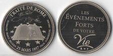 Médaille en Nickel Traité de Rome ( trésor du Patrimoine - 006 )