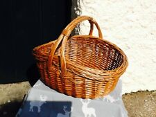 TRADITIONAL LIGHT STEAMED WILLOW COOKERY SHOPPER.  CUTE  BNWOT