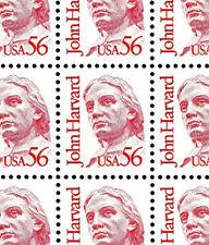 WCstamps: U.S. Scott #2190 / $165 - 56c Harvard Sheet Of 100, VF, Mint OGnh