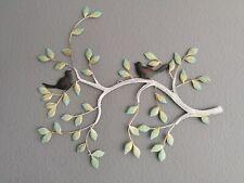 Wandbild Ast mit Vögel Metall 3D Bild Design  Wanddekoration Metallbild