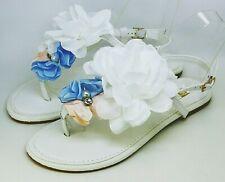 Tiras Sandalias - Zapatos de Novia con la Flor en Blanco Ls 120