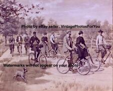 Old Vintage Bicycles Country Bike Ride Terrier Dog Illustration Wall Art Photo