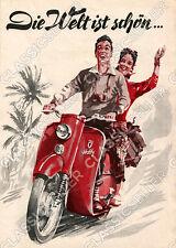 DKW Hobby Motorroller Poster Plakat Bild Kunstdruck Affiche Retro Schild Reklame