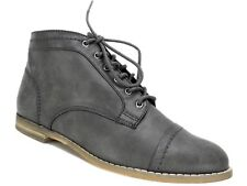Indigo Rd. Women's Harts Lace-Up Oxford Flat Boots DK Gray Size 8.5 M