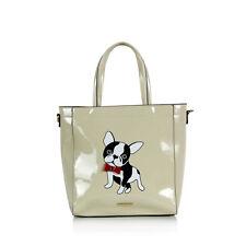 Französische Bulldogge Lackleder Einkaufstasche Handtasche Frenchie Hund Lovers