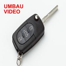 V3RO Klapp Schlüssel Gehäuse f. 3-Tasten für VW Beetle,Golf 4,Bora,Audi A2,A3,A4