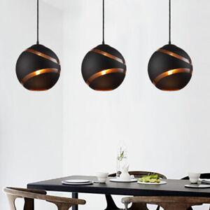 Glass Pendant Light Kitchen Chandelier Lighting Black Lamp Modern Ceiling Lights