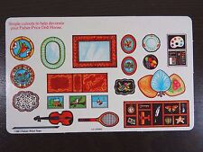Vintage Fisher Price Dollhouse Decorating Cutouts 1981