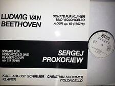 BEETHOVEN PROKOFIEV Cello Sonatas Schirmer Rare LP Aurophon 11149 NM