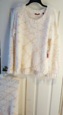 Sweater by RED Size XL Fluffy Long Sleeve Womens Sweater with neck warmer