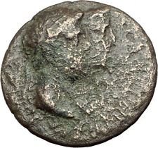 Greek King RHOEMETALKES PYTHODORIS w Roman Emperor AUGUSTUS Ancient Coin i64314
