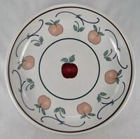 Orchard Medley Coupe Soup Bowl Princess House Fruit Apples Leaves Portugal (O)