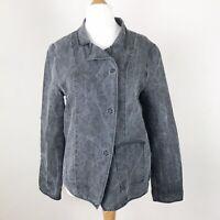 OSKA Charcoal Grey Arty Lightweight Jacket With Pocket Size 1 UK 10-12