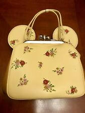 Coach X Disney Minnie Ears Floral Kisslock Bag Crossbody Chain Vanilla F29351