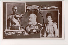 Vintage Postcard King Edward VII King George V & Queen Mary of Great Britain