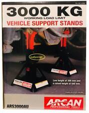ARCAN AU 2pc Car Jack Stand 3000kg Ratchet Adjustable Lift Hoist Heavy Duty Stee