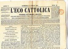 J166-PERIODICI FRANCHI C.1 SU GIORNALE L'ECO CATTOLICA