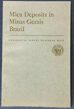 Usgs Pegmatites Of Brazil Minas Gerais 1950 Cruziero Mine, etc Complete w/Maps!