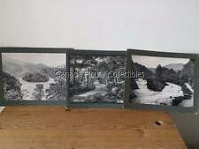 3 x Antique 10x8 Photocrom Halfpenny Post Card - Loch Katerine & Falls Of Leny