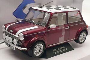 Solido 1/18 Scale S1800606 - 1997 Mini Cooper 1.3i Sport Pack - Purple