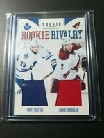2011-12 Panini Rookie Anthology Rivalry Matt Frattin David Rundblad Jersey RC