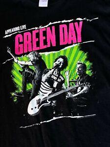 VINTAGE RARE GREEN DAY -AUSTRALIAN TOUR 2014- . GILDAN BLACK COTTON XL