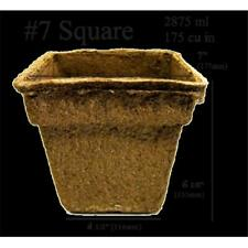CowPots 7 in. Square Pot 2875 ml - 175 Cubic Inch