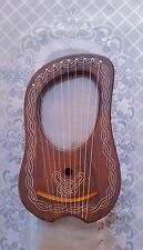 10 Metal Strings Irish Celtic Lyre Harp With Carrying Bag And Key